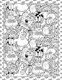 Cartoon SpongeBob Coloring Page