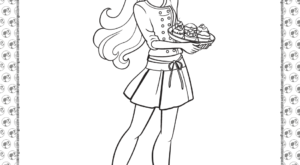 Chef Barbie Coloring Page