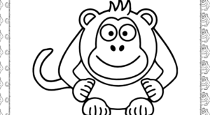 Cool Monkey Coloring Page
