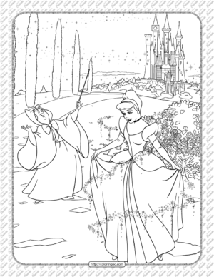 Disney Cinderella Fairy Godmother Coloring Page