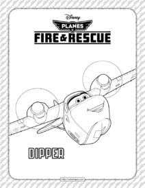 Disney Planes Fire and Rescue Dipper Coloring Page