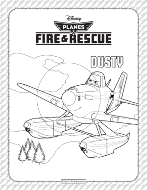 Disney Planes Fire and Rescue Dusty Coloring Page