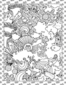 Find and Color SpongeBob Coloring Sheet