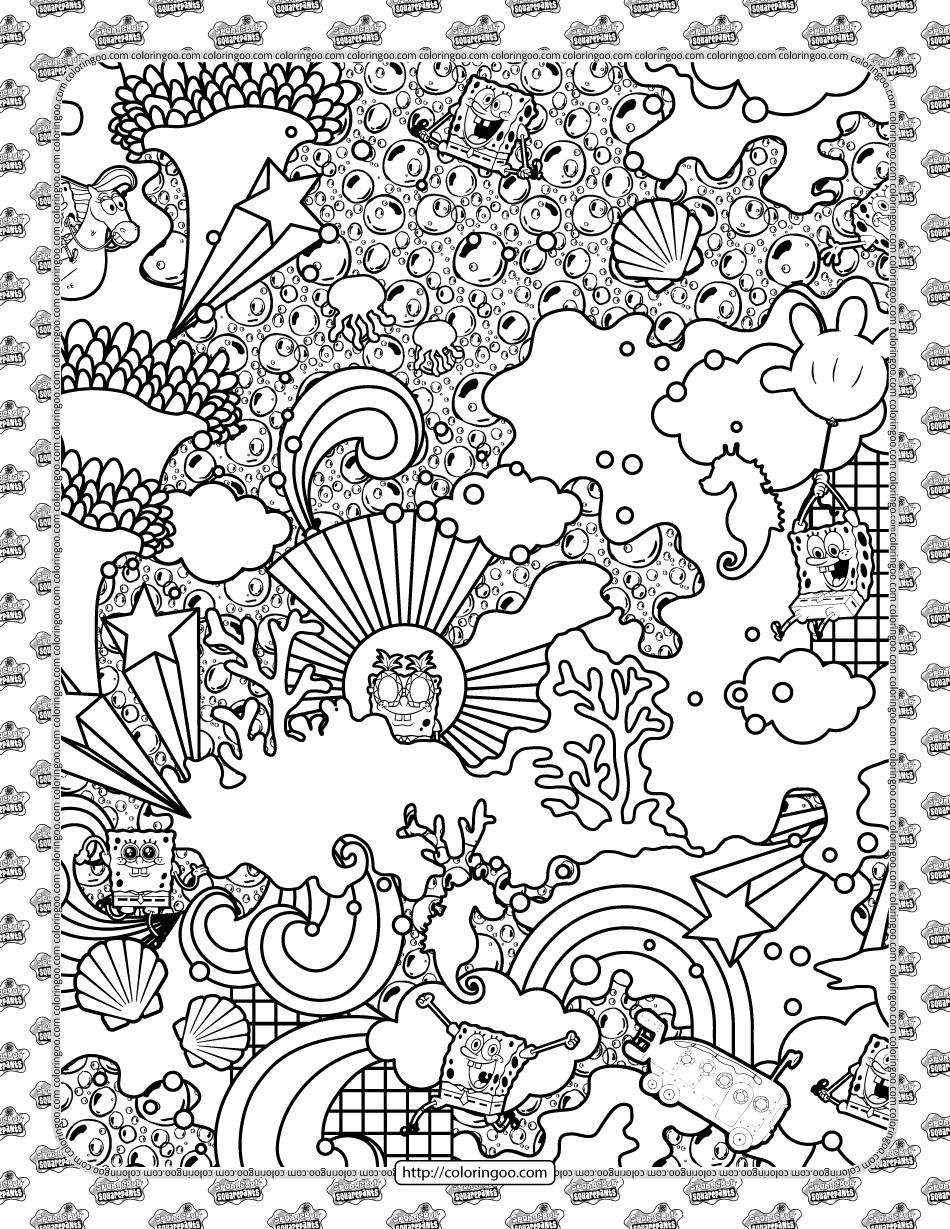 Find and Color SpongeBob Coloring Sheet