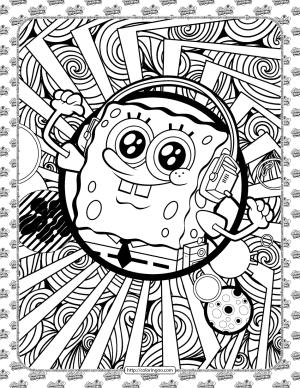 Free SpongeBob Coloring Sheet