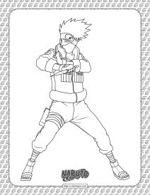 Kakashi Hatake Coloring Page
