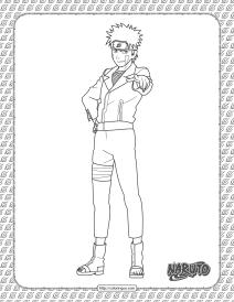 Kiba Inuzuka Coloring Page