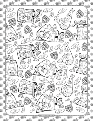 Kickin it Spongebob Style Coloring Page