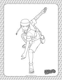 Neji Hyuga Coloring Page