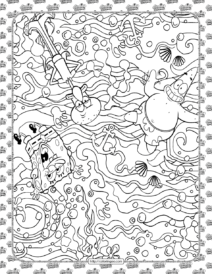 Patrick How Stupid Are You Coloring Page