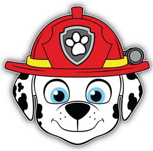 Paw Patrol Cartoon Marshall Head Coloring Page