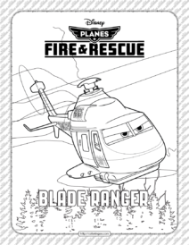 Planes Fire and Rescue Blade Ranger Coloring Page