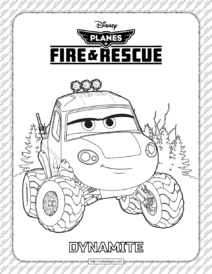 Planes Fire and Rescue Dynamite Coloring Page