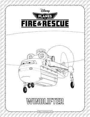 Planes Fire and Rescue Windlifter Coloring Page