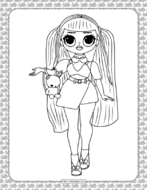 Printable Candylicious LOL OMG Coloring Page