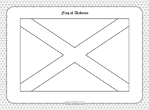 Printable Flag of Alabama Outline Coloring Page