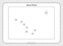 Printable Flag of Alaska Outline Coloring Page