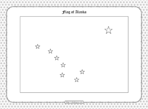 Printable Flag of Alaska Outline Coloring Page