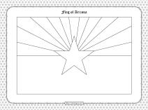 Printable Flag of Arizona Outline Coloring Page