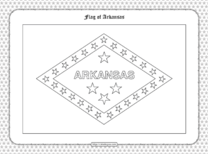 Printable Flag of Arkansas Outline Coloring Page