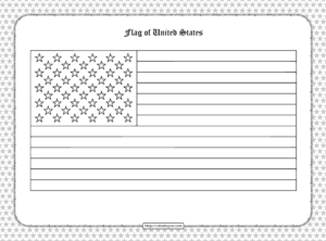 Printable Flag of United States Outline Coloring Page