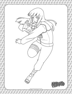 Printable Hinata Coloring Page