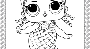 Printable LOL Doll Merbaby Coloring Page