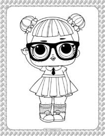 Printable LOL Doll Teacher's Pet Coloring Page