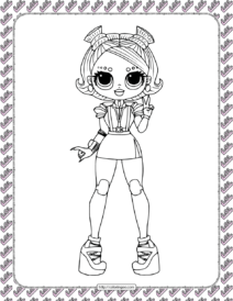 Printable LOL OMG Stellar Babe Coloring Page