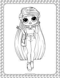 Printable LOL Surprise Lara B.R Coloring Page