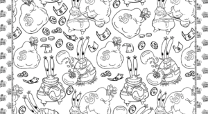 Printable Mr. Krabs Coloring Page