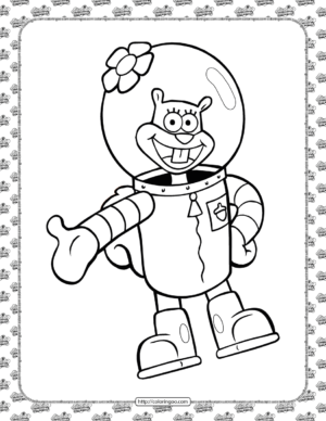 Printable Sandy Cheeks Coloring Pages