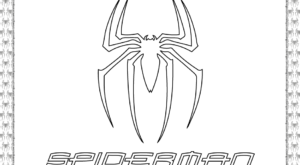 Printable Spiderman Logo Coloring Page
