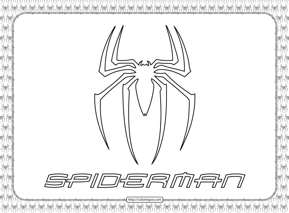 Printable Spiderman Logo Coloring Page
