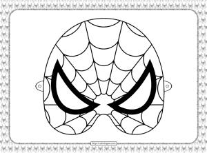 Printable Spiderman Mask Coloring Sheet