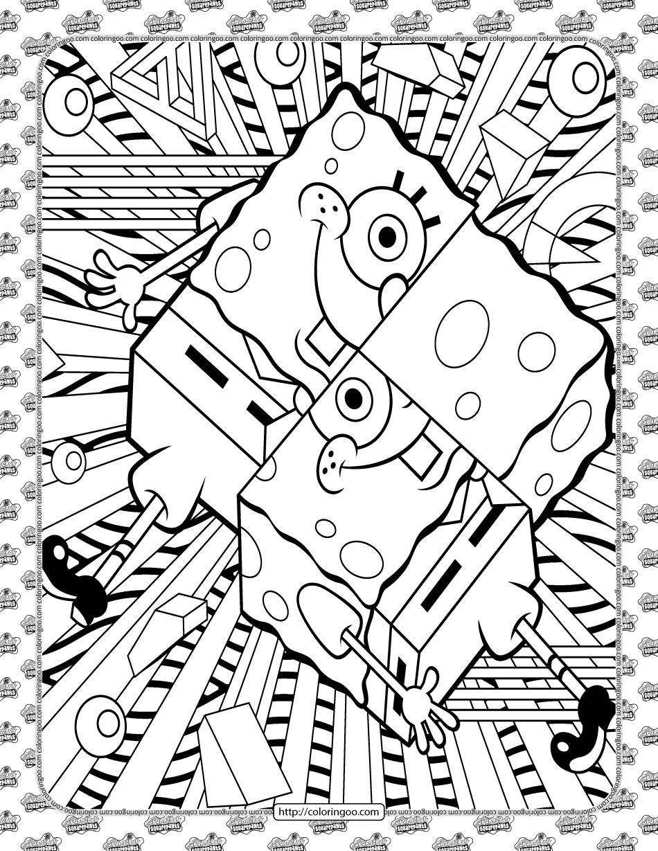 Printable SpongeBob Coloring Sheet