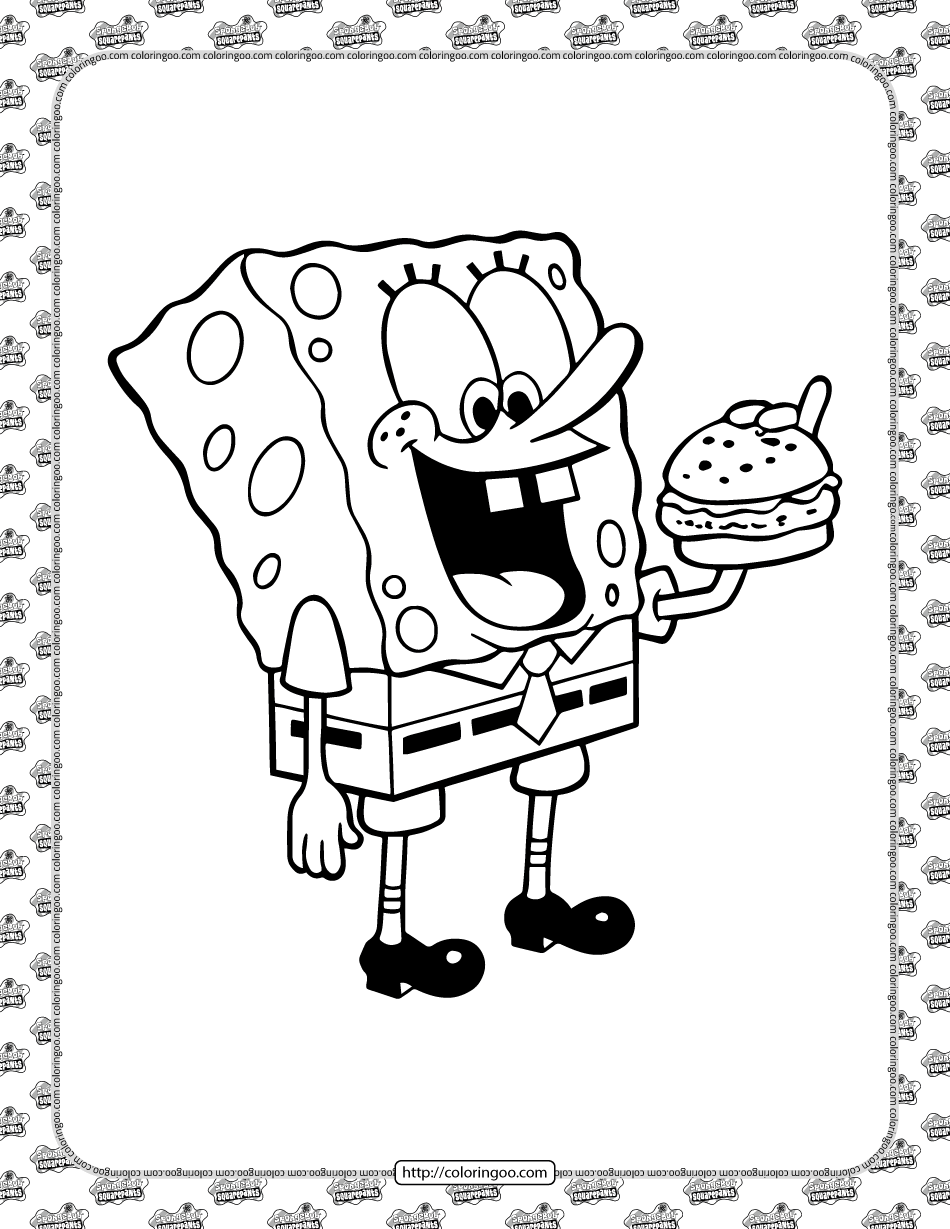 Printable SpongeBob SquarePants Coloring Sheet