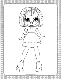 Printable Sugar LOL OMG Coloring Page