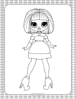 Printable Sugar LOL OMG Coloring Page