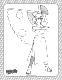 Printable Temari Coloring Page
