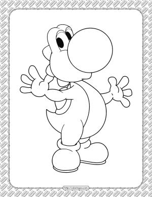 Printable Yoshi Coloring Page