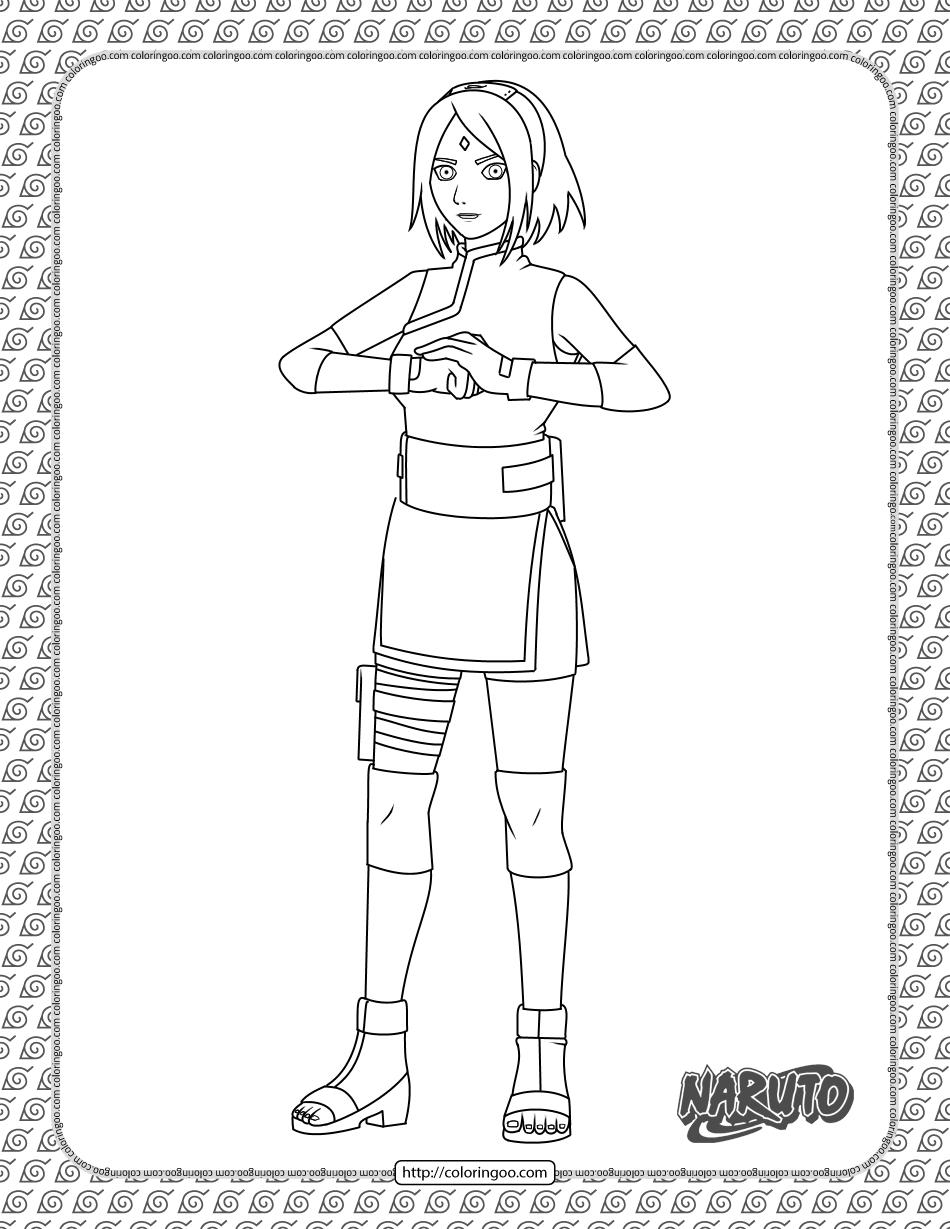 Sakura Haruno Coloring Page