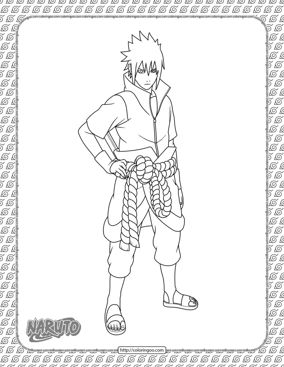 Sasuke Uchiha Coloring Page
