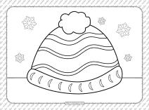 Skullcap Coloring Page