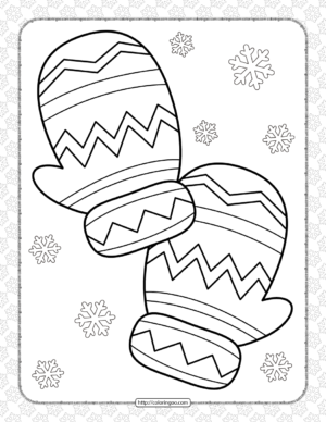 Snow Cloves Coloring Page for Kids