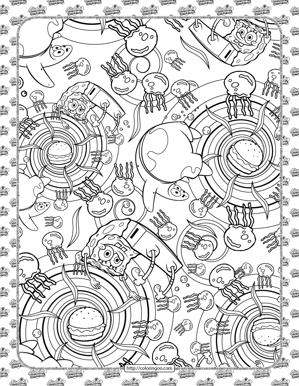 SpongeBob a New Adventure Coloring Page