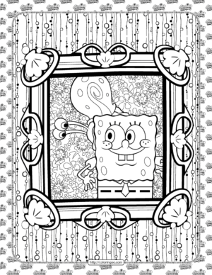 SpongeBob and Gary Coloring Page