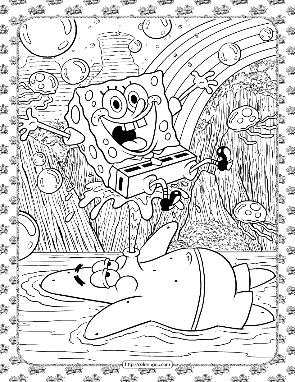 SpongeBob and Patrick Coloring Page
