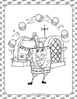 SpongeBob Coloring Page for Kids