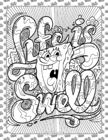 SpongeBob Coloring Pages for Kids
